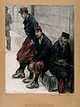 World War One; three French prisoners of war slouching in a Wellcome V0015799.jpg