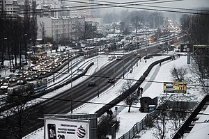 Winter of 2009–10 in Europe - Image: Wroclaw snow 09