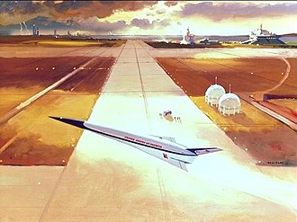 Rockwell X-30 - A 1986 artist's concept of the NASP on liftoff.
