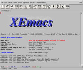 Screenshot di XEmacs