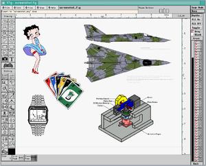 Xfig - Image: Xfig screenshot