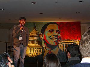 Yosi Sergant - Yosi Sergant speaking at the opening of Manifest Hope, Washington, DC art show
