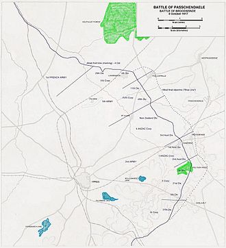 Battle of Broodseinde - Image: Ypres 1917 Broodseinde Setup+Objectives