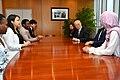 Yukiya Amano meets with Safeguards Trainees 2018 (03210731) (45145808615).jpg