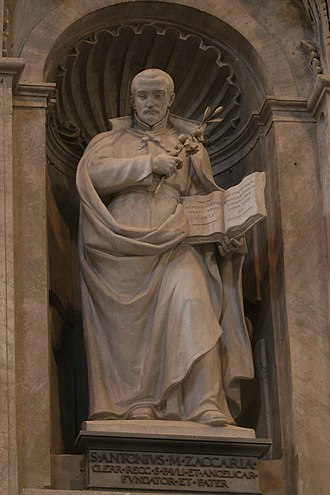 Cesare Aureli - St Anthony Mary Zaccaria, St Peter's Basilica.