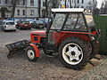 Zetor 5011 with a snowplow on a parking lot in Kraków 2.jpg
