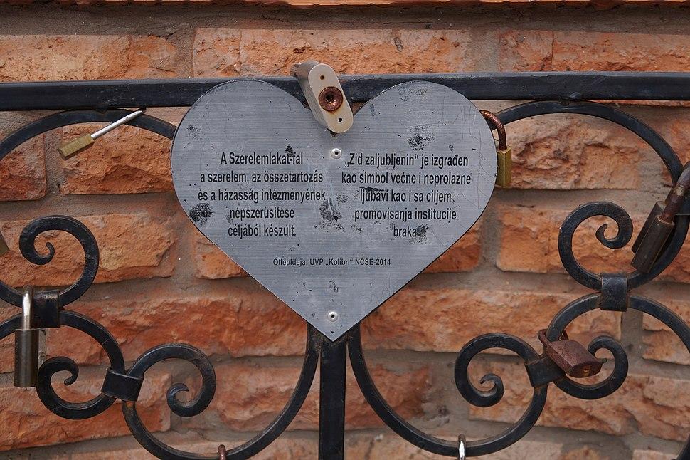 Zid zaljubljenih (Szerelemlakat-fal), Hajdukovo