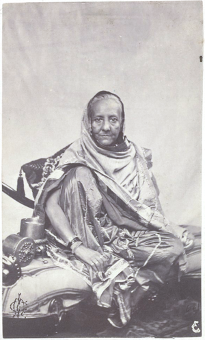 Zeenat Mahal - Zeenat Mahal's supposed only known photograph, possibly the only photograph that exists of any Mughal empress