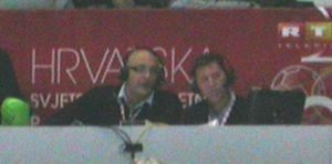 Zlatko Saračević and co-commentator.JPG
