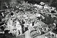 Downtown of Wieluń destroyed by Luftwaffe bombing the 1st of September 1939