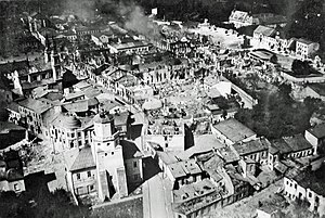 Wieluń - Wieluń just after Luftwaffe bombing on 1 September 1939