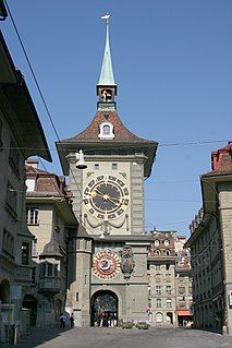 Medieval tower in Bern, Switzerland