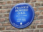 """Blue Plaque"" re Frankie Howerd OBE See 849776."