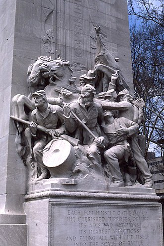 Philadelphia in the American Civil War - Hermon Atkins MacNeil's Civil War Soldiers and Sailors Memorial in Philadelphia.