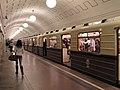 """Sokolniki"" retro train at Okhotny Ryad station (Ретропоезд ""Сокольники"" на станции Охотный Ряд) (5089430034).jpg"