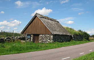 Simrishamn Municipality - Åkarps brydestua is a barn for flax drying from the 18th century in Simrishamn municipality
