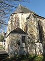 Écouen (95), église Saint-Acceul, abside, vue depuis le nord-est.JPG