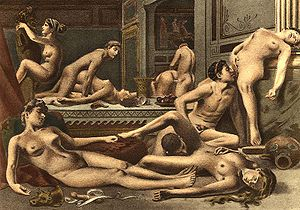 Orgy - Illustration from De Figuris Veneris by Édouard-Henri Avril — orgy scene or orgy fantasy