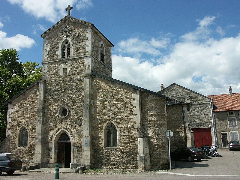 Domrémy-la-Pucelle (Vosges) église Saint-Rémy