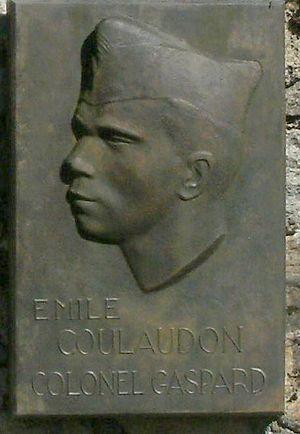 Émile Coulaudon - Memorial at the Mont Mouchet museum, France.