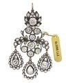 Örhänge av guld och silver med brasilianska briljanter, 1700-tal - Hallwylska museet - 98900.tif