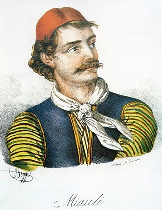 Andreas Miaoulis - Andreas Miaoulis. Drawing by Giovanni Boggi