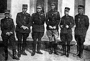 Army of Asia Minor - The Greek senior military leadership in September 1921