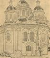 Архитектурне обличчя Полтави. 1919. № 6. Церква Стрітення, од південних врат.png