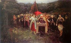 Kosh otaman - Image: Олександр Мурашко. Похорон кошового. Oleksandr Murashko. Burial of a Kish Otaman