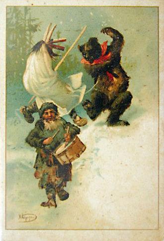 Koliada - Russian Christmas postcard. 1910s