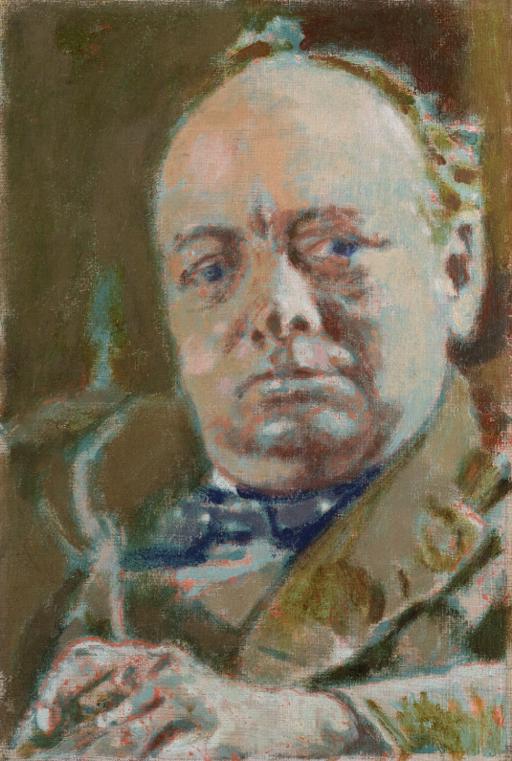 """Winston Churchill""by Walter Sickert"