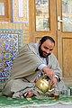 طلبه در حال بحث و درس. مدرسه علمیه خان (Mufti, Akhoond, Clergy, Mullah).jpg