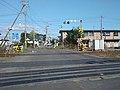 北海道道67号八雲厚沢部線・JR北海道函館本線落部踏切-4(終点側から、2018年11月撮影).jpg