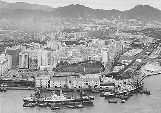 Holt's Wharf - Aerial view of the Holt's Wharf in 1963
