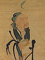 明 緙絲蟠桃獻壽圖-Immortal Holding a Peach MET DP225808.jpg