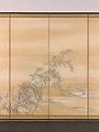 芦雁図屏風; 柳に水上月図屏風-Goose and Reeds; Willows and Moon MET DP704986.jpg