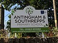 -2018-09-29 Name sign, Antingham and Southrepps primary school, Southrepps.JPG
