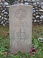 -2020-12-09 CWGC gravestone, B F Holman, Royal Norfolk Regiment, Saint Nicholas, Salthouse.JPG