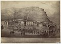 0160.0003 Lower Parade, James Town, St Helena. With a view of the remains of the emperor Napoleon passing down on the 13th October 1840.jpg