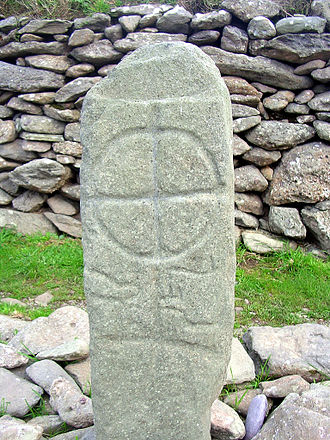 Celtic cross - Early forms: pillar stone, Gallarus Oratory, County Kerry, Ireland