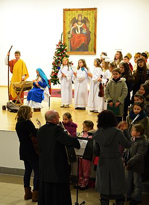 Nativity play - A children's nativity play in Sanok, Poland 2013.