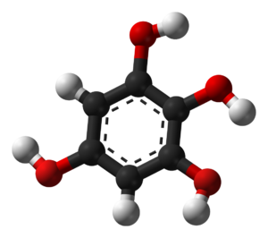 1,2,3,5-Tetrahydroxybenzene - Image: 1,2,3,5 tetrahydroxybenzene 3D balls