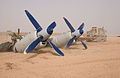 100728-N-0000M-010 crash-landed An-12 left engines at Camp Dwyer Afghanistan.jpg