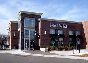 Pei Wei Asian Diner - Exterior of a Pei Wei Asian Diner in Eden Prairie, Minnesota