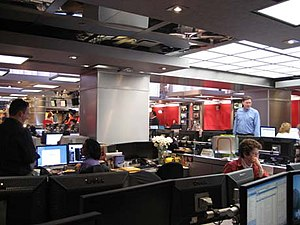 History of MSNBC: 1996–2007 - The current MSNBC newsroom in Manhattan.