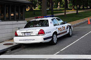 United States Capitol Police - Capitol Police on Constitution Avenue
