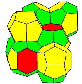 Weaire–Phelan structure (polyhedral cells)