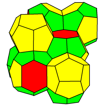 Weaire–Phelan structure - Weaire–Phelan structure (polyhedral cells)