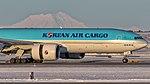 12042016 Korean Air Cargo HL8005 B772F PANC ROLLOUT NASEDIT (26909485497).jpg
