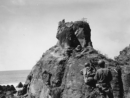 US Army Soldiers engaging heavily fortified Japanese positions 147th-inf-regt-in-combat-iwo-jima-bazooka-and-bar-team-040845-1-of-1.jpg